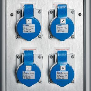 Elstolpe 2st eluttag och LED belysning