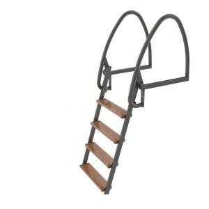 Badstege, 4-steg, 100 cm, Uppfällbar Varmförzinkad
