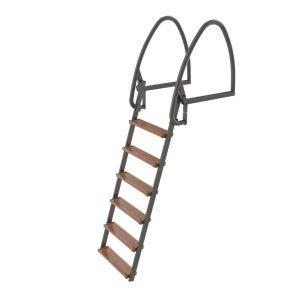 Badstege, 6-steg, 147 cm, Uppfällbar, Varmförzinkad