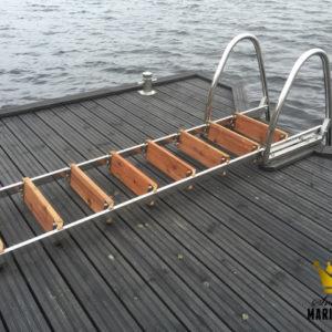 Badstege, 4-steg, 100cm, Uppfällbar, Rostfri 304