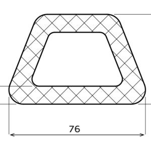 D-Fender Gummi  76 x 50 x 3000 mm.