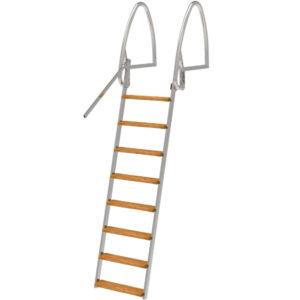 Badstege, 8-steg, 202cm, Uppfällbar, Rostfri Syrafast 316 (för saltvatten)