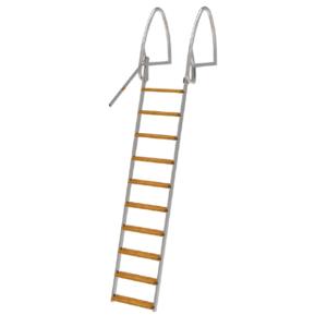Badstege, 10-steg, 265cm, Uppfällbar, Rostfri Syrafast 316 (för saltvatten)