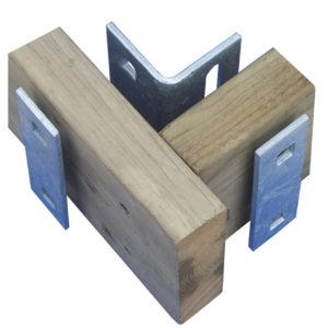 Vinkelförstärkning 125×70 med 2 st. brickor.